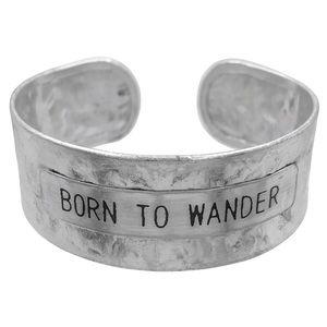 🌼3/$30🌼 BORN TO WANDER Hammered Cuff Brace…